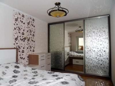 Шкаф-Купе в спальную комнату Хим-Травление Узоры
